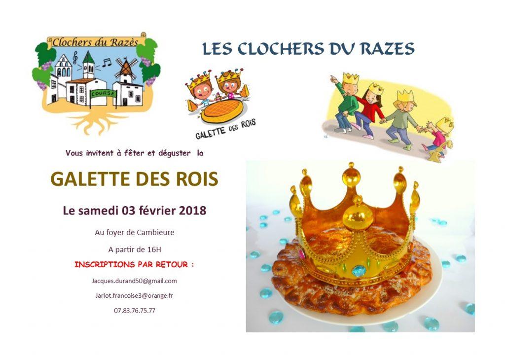 Galette des Rois des Clochers 2018 pub